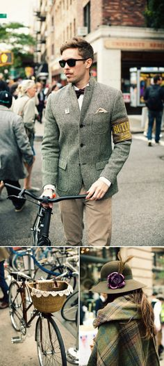 Looks like the Tweed Ride. Fashionable and more than a little hipster.