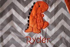 Baby Blanket 16 x 16 or 29 x 35 no tags dinosaur blanket by isewjo @BabyList Baby Registry