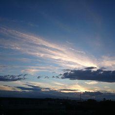 7月22日の夕空(^^) #空 #夕空 #夕焼け #雲