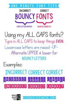 FONT TIPS: KG FONTS FONT PAIRING GUIDE {free}