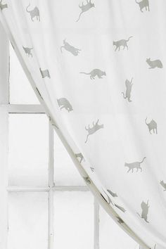 Plum & Bow Kitty Curtain - Urban Outfitters #UOcontest #UOoncampus