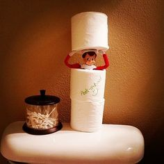 12 Elf on the Shelf Ideas For the Lazy Parent : 21 Elf on the Shelf Ideas For the Lazy Mom: Whether you love him or loathe him, the Elf on the Shelf has become a beloved tradition for families across the country. Christmas Elf, All Things Christmas, Christmas Crafts, Country Christmas, Christmas Parties, Christmas Holiday, Christmas Decorations, Awesome Elf On The Shelf Ideas, Elf On The Shelf Ideas For Toddlers
