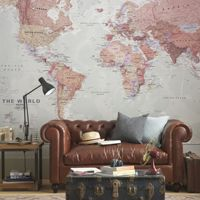 different wallpaper maps: customizable to fit various wall sizes