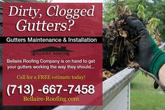 We will clean,seal,secure your gutter system as needed at no extra cost, with approval of leaf guard installation. Call #BellaireRoofing 713-667-7458 to schedule your FREE estimate.  #Gutters #HoustonGutters #GutterInstallation #HoustonContractor  #Gut .