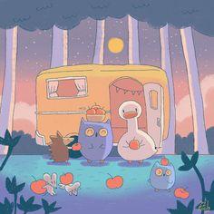 Cute Pastel Wallpaper, Anime Scenery Wallpaper, Aesthetic Pastel Wallpaper, Kawaii Wallpaper, Wallpaper Iphone Cute, Happy Images, Cute Images, Cute Animal Drawings, Cute Drawings