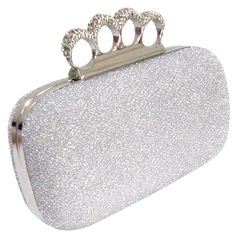 f05d0fd5491b Women s Rhinestone Stud Knuckle Duster Clutch (95 DKK) ❤ liked on Polyvore  featuring bags