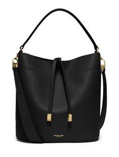 809a768081 Michael Kors Michael Kors  Medium Miranda  Leather Bucket Bag available at