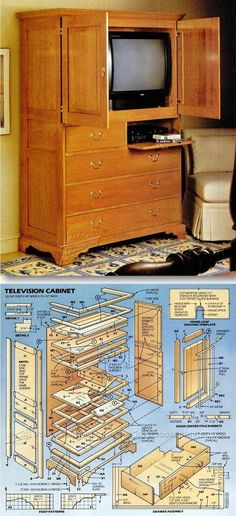 TV Cabinet Plans - Furniture Plans and Projects | WoodArchivist.com