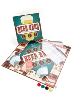 A board game made for beer lovers from Chronicle Books, Beer Nerd combines drinking with taste tests and quizzes.