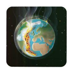 Burning Earth Beverage Coaster
