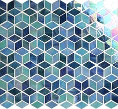 Sapphire tile from the Rainbow Collection