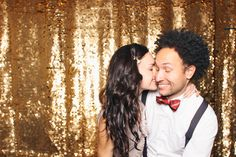 In love with this gold photobooth backdrop Cheddarbooth as featured on Mikaela Ruth's blog.