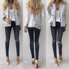 """2c5ef0349b7 Up Close and Stylish on Instagram  """"The other days  ootd -  Chanel blazer"""
