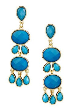 Stacked Tier Multi-Shaped Earrings by Up The Glam: Colorful Jewelry Blowout on @HauteLook