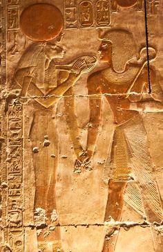 Abydos. Sekhmet with a menit neklace Temple. Sethi l