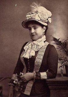 Adelina Patti, c. 1880.
