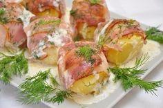 Baked Potatoes In Bacon Recipe
