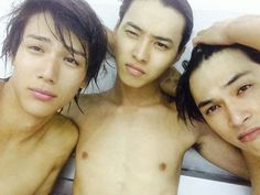 Taishi Nakagawa, Kento Yamazaki, Ryo Yoshizawa in Suikyu Yankees(Water Polo Yankees)