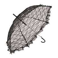 This elegant black lace parasol is a wonderful wedding or formal party decoration! It's a pretty accessory for a vintage costume party, or stock u. Formal Party Decorations, Fabric Paint Pens, Fun Rainy Day Activities, Black Gift Bags, Hanging Paper Lanterns, Lace Parasol, White Umbrella, Balloon Weights, Black Balloons