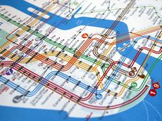 For anyone, perhaps riding the NYC MTA for the first time, trying to read the subway map
