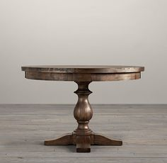 17th C. Monastery Round Dining Table in Brown Acacia from Restoration Hardware