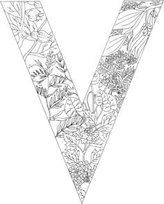 Letter V with Plants coloring page from English Alphabet with Plants category. Select from 24659 printable crafts of cartoons, nature, animals, Bible and many more.