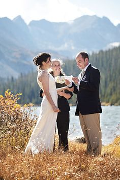 Real Weddings: Daniel & Kellie's Colorado Wilderness Elopement - See intimateweddings.com