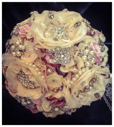 Elegant Hydrangea Petal Brooch Bouquet. Deposit by NatalieKlestov