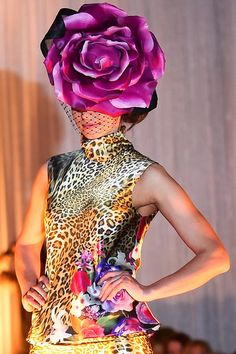 Large Rose Hat - Polly McGettigan #mllinery #HatAcademy