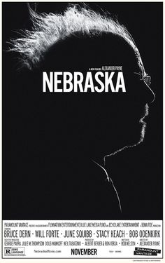Nebraska Directed by Alexander Payne. With Bruce Dern, Will Forte, June Squibb, Bob Odenkirk. An aging, booze-addled father makes the trip from Montana to Nebraska with his estranged son in order to claim a million-dollar Mega Sweepstakes Marketing prize. Cinema Art, I Love Cinema, Love Movie, Movie Tv, Movie Blog, Stacy Keach, Image Internet, Bon Film, Movie Posters