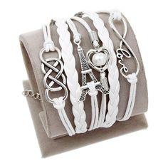 Wrap Leather Bracelet Charm bracelets