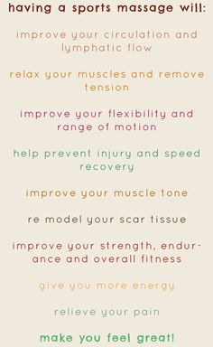 Helpful Guidance For Those Wanting To Know About Massage. If you've had the pleasure of an exquisite massage, you know it can feel great. However, it can sometimes seem like certain things prevent massages from be Massage Dos, Massage Quotes, Massage Chair, Thai Massage, Facial Massage, Foot Massage, Sports Massage Therapist, Massage Therapy Rooms, Sports Physical Therapy