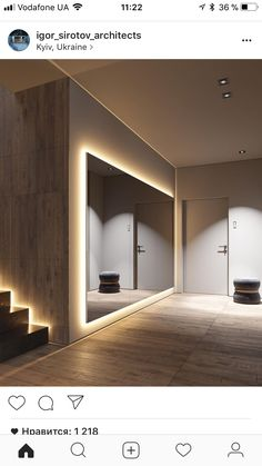 Ideas For Fitness Design Gym Interior Mirror Home Dance Studio, Studio Art, Studio Ideas, Gym Interior, Modern Interior, Yoga Studio Interior, Urban Interior Design, Tree Interior, Interior Concept