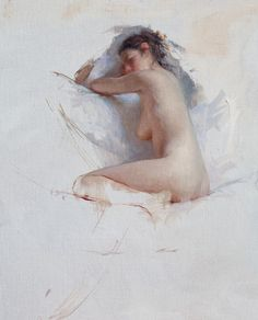 Jeremy Lipking, Ariella, oil on linen