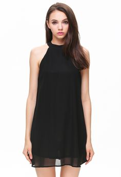 Black High Neck Sleeveless Swing Dress 18.99