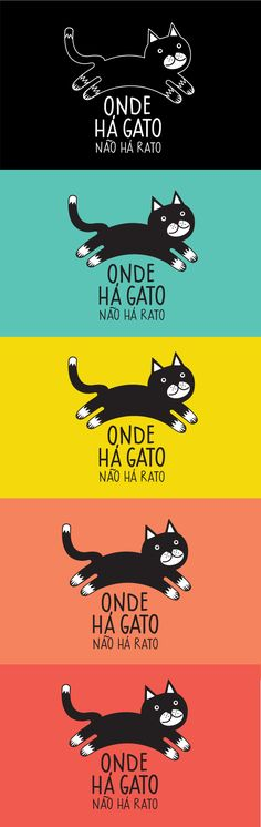 Onde Há Gato – Logo ID on Behance Le chat – ID du logo sur Behance - Pizza Cat, Cat Whisperer, F2 Savannah Cat, Puppies And Kitties, Dogs, Behance, Dog Logo, Dog Wedding, Cat Supplies