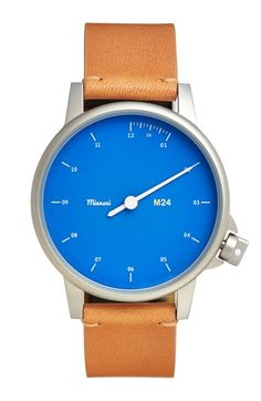 Miansai+'M24'+Round+Leather+Strap+Watch,+35mm+available+at+#Nordstrom