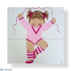 Cuadro infantil personalizado: Niña bailarina (ref. 12035-01)