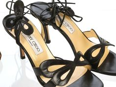 Catawiki online auction house: Jimmy Choo. Black leather butterfly court shoes. Size 38.
