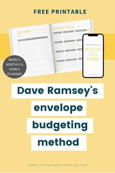 Check out this envelope budgeting method free printable! Dave Ramsey's cash envelope method is a great way to save money and achieve debt freedom. Use thid free printable for the cash envelope method today! Goals Planner, Weekly Planner, Dave Ramsey Envelope System, Cash Envelopes, Financial Goals, Ways To Save Money, Debt, Personal Finance, Saving Money