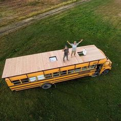 Ok that's pretty awesome. What would you do if you had a rooftop deck. #VanCrush #buslide . . Repost from @thedenalibus Van Life Blog, Living On The Road, School Bus Conversion, House On Wheels, Converted Bus, Caravans, Rooftop Deck, School Fun, Photo And Video