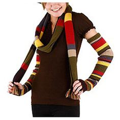 Doctor Who Fourth Doctor Arm Warmers. so making these