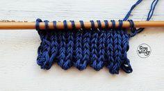 Cómo tejer borde de picos en dos agujas fácil y rápido