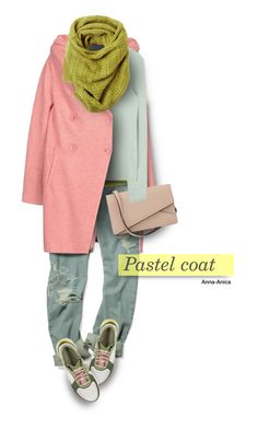 """Pastel Coat"" by anna-anica ❤ liked on Polyvore featuring Annarita N., adidas, DOUUOD, Valextra, Toast, women's clothing, women, female, woman and misses"