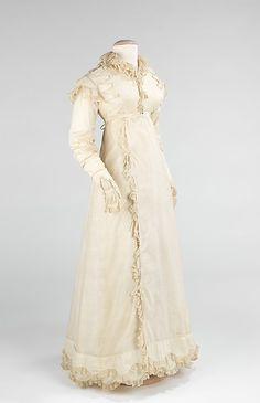 Cotton dress, ca. 1820, American