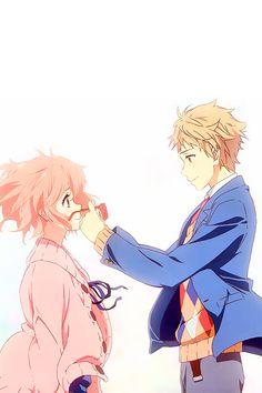 Kyoukai no Kanata Wallpaper, official artwork. Series: Kyoukai no Kanata For… I Love Anime, Awesome Anime, All Anime, Anime Guys, Manga Art, Manga Anime, Anime Art, Otaku, Beyond The Boundary