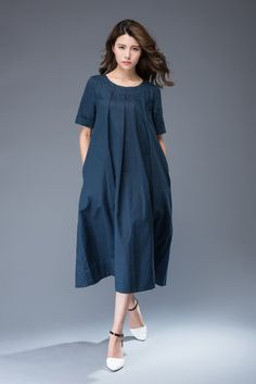 Linen Dress linen tunic tunic dress linen dress midi plus