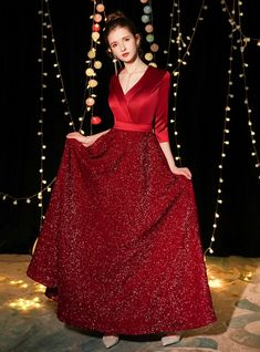 Shop 2019 Long & Short In Stock:Ship in 48 Hours Burgundy Sequins Half Sleeve V-neck Prom Dress With Factory Price From Kemedress Short Sleeve Prom Dresses, Backless Homecoming Dresses, Prom Dresses Under 100, One Shoulder Prom Dress, Straps Prom Dresses, Prom Dresses For Sale, Prom Dresses Online, Clearance Prom Dresses, Red Frock