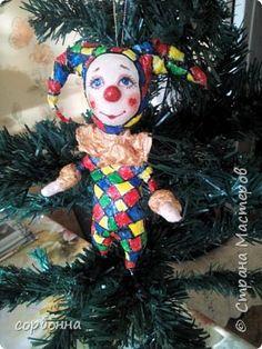 Игрушка Новый год Папье-маше игрушки новогодние ватное папье-маше Вата фото 2