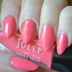 Swatch of Julep's Vicki #pink #nailart #nails #polish #mani - Share/explore more nail looks at bellashoot.com!